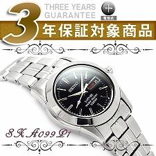 【逆輸入SEIKO】セイコー レディース腕時計 ブラックダイアル シルバーステンレスベルト SXA099P1