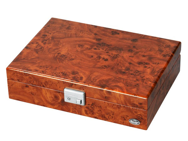 【LUHW】ローテンシュラーガー 木製 ウォッチボックス 腕時計 収納ケース 8本収納可能 広々設計 ダークブラウン 濃木目 LU-51010RD