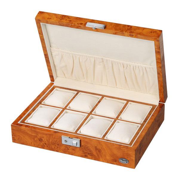 <title>ローテンシュラーガー 時計 8本収納 時計ケース LUHW 送料込 木製 ウォッチボックス 腕時計 収納ケース 8本収納可能 広々設計 ライトブラウン 薄木目 LU-51010RW 腕時計収納ケース</title>