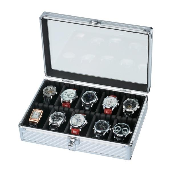 【ESPRIMA】エスプリマウォッチコレクションケース腕時計10本収納アルミケースSE54020AL