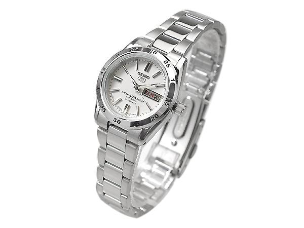 精工 5 自动卷绕式女式手表白色 SYMG35J1