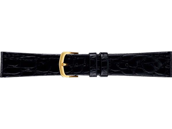 【SEIKO BAND】20mm セイコー 替えベルト 牛革ワニ型押し(切身はっ水) 紳士用 黒色 DAP9【正規品】【返品不可】【ネコポス可】