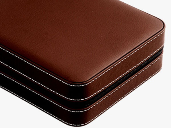 Storing Portable Case Synthetic Leather Watch Storage Case Se80014lbr For Four