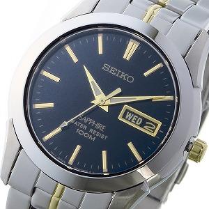 逆輸入セイコー 逆輸入SEIKO クオーツ ユニセックス 腕時計 SGGA61P1 ブラック