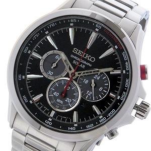セイコー SEIKO クロノ ソーラー メンズ 腕時計 SSC493P1 ブラック