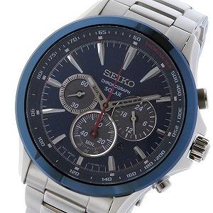セイコー SEIKO クロノ ソーラー メンズ 腕時計 SSC495P1 ダークブルー