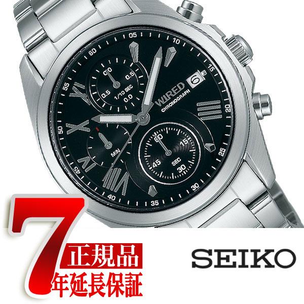 【SEIKO WIRED】セイコー ワイアード PAIR STYLE ペアスタイル クォーツ クロノグラフ メンズ 腕時計 AGAT404