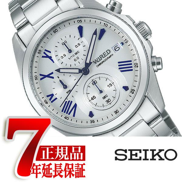 【SEIKO WIRED】セイコー ワイアード PAIR STYLE ペアスタイル クォーツ クロノグラフ メンズ 腕時計 AGAT406【あす楽】