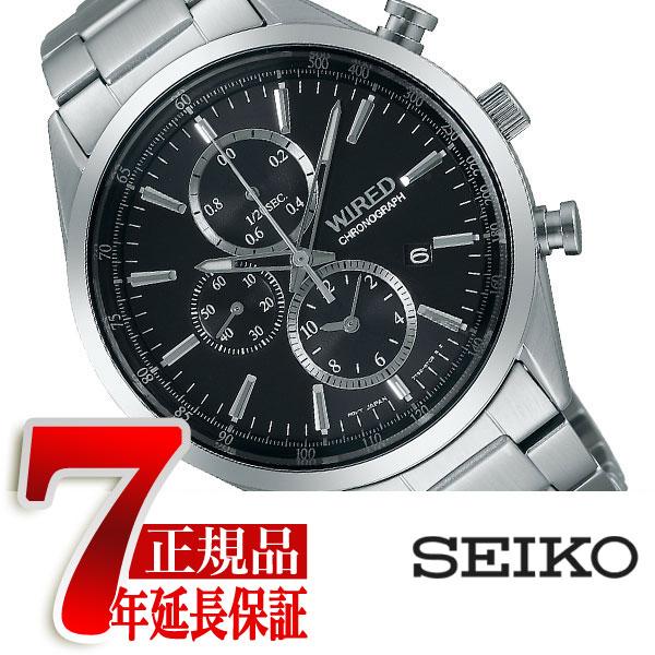 【正規品】セイコー ワイアード SEIKO WIRED NEW STANDARD MODELニュースタンダードモデル クォーツ クロノグラフ メンズ腕時計 ブラック AGAV109
