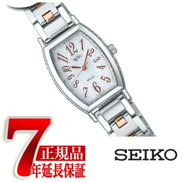 【SEIKO ALBA ingenu】セイコー アルバ アンジェーヌ レディース腕時計 ソーラー ホワイト ピンクゴールド AHJD052【正規品】