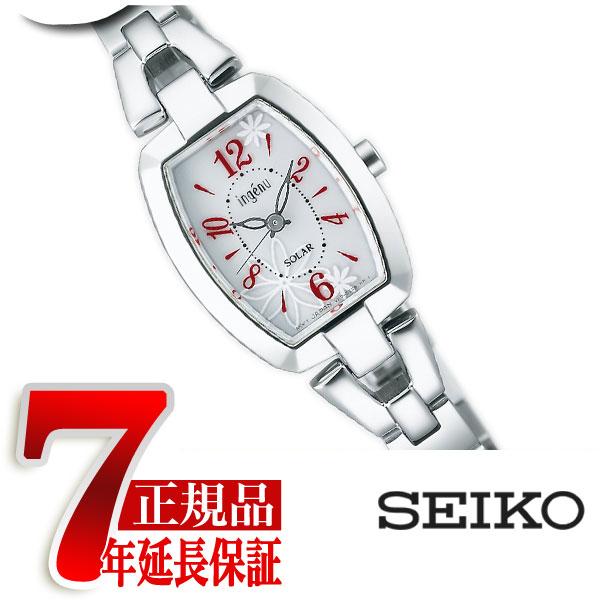 【正規品】セイコー アルバ アンジェーヌ SEIKO ALBA ingenu レディース腕時計 トノーフラワーソーラー ホワイト×レッド AHJD059
