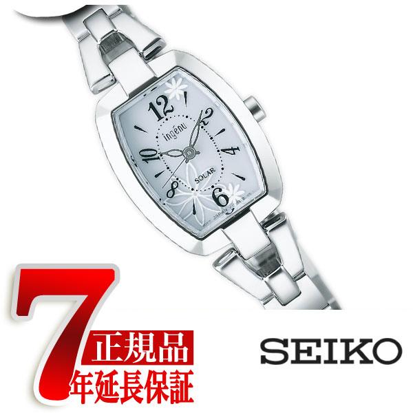 【正規品】セイコー アルバ アンジェーヌ SEIKO ALBA ingenu レディース腕時計 トノーフラワーソーラー ホワイト AHJD061