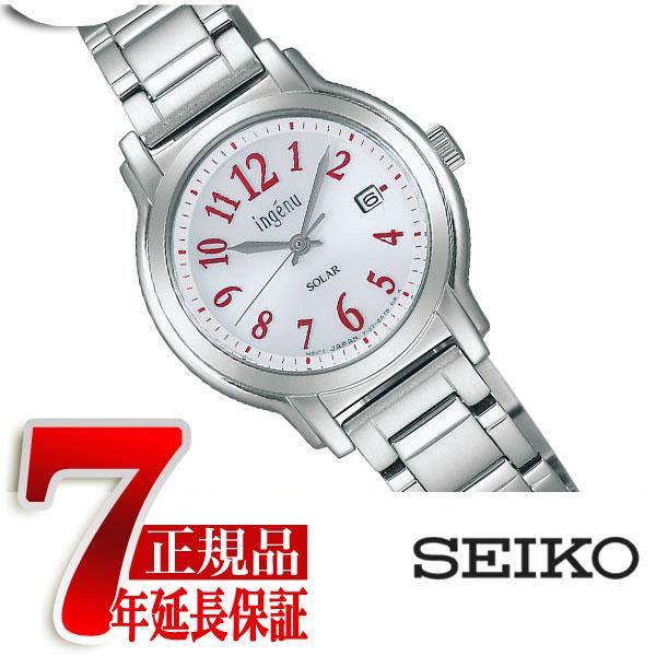 【SEIKO ALBA inge'nu】セイコー アルバ アンジェーヌ エコテックソーラー レディース腕時計 シルバー AHJD066【正規品】