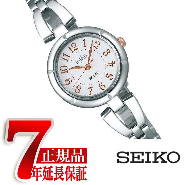 【SEIKO ALBA ingenu】セイコー アルバ アンジェーヌ ソーラー 腕時計 レディース おしゃれブレスソーラー ホワイト AHJD094
