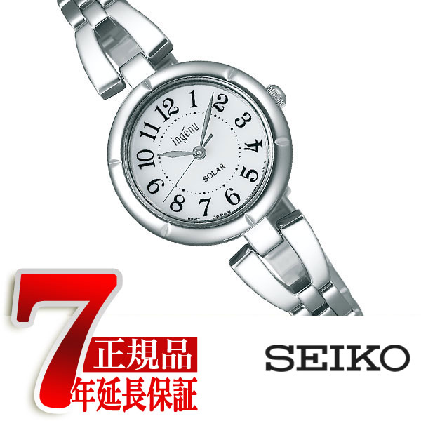 【SEIKO ALBA ingenu】セイコー アルバ アンジェーヌ ソーラー 腕時計 レディース おしゃれブレスソーラー ホワイト AHJD095