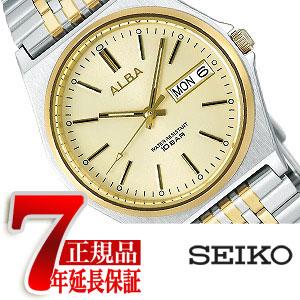 【正規品】セイコー アルバ SEIKO ALBA スタンダード ねじロック式 メンズ 腕時計 ゴールド×シルバー AIGT001
