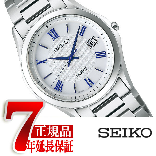 【正規品】セイコー ドルチェ&エクセリーヌ SEIKO DOLCE&EXCELINE 薄型 ソーラー ペアウォッチ メンズ 腕時計 チタン シルバー SADM007