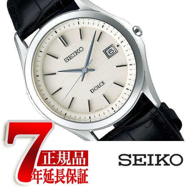 【正規品】セイコー ドルチェ&エクセリーヌ SEIKO DOLCE&EXCELINE 薄型 ソーラー ペアウォッチ メンズ 腕時計 チタン アイボリー SADM009