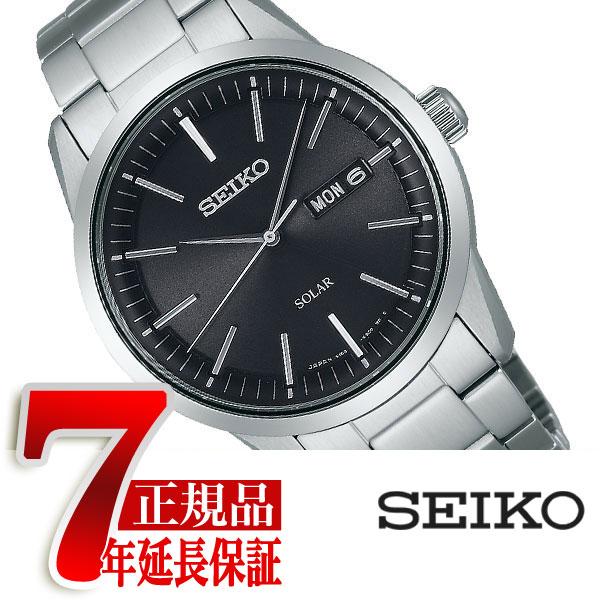 【SEIKO SPIRIT SMART】セイコー スピリット スマート メンズ ソーラー 腕時計 ブラック SBPX063【ネコポス不可】