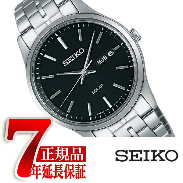 【正規品】セイコー スピリット SEIKO SPIRIT ソーラー メンズ腕時計 ブラック SBPX069
