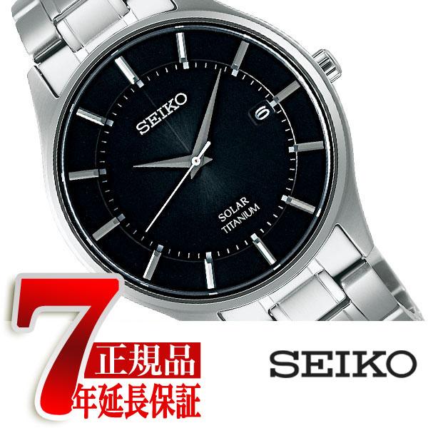 【SEIKO SELECTION】セイコー セレクション ソーラー メンズ 腕時計 ペアモデル ブラック SBPX103