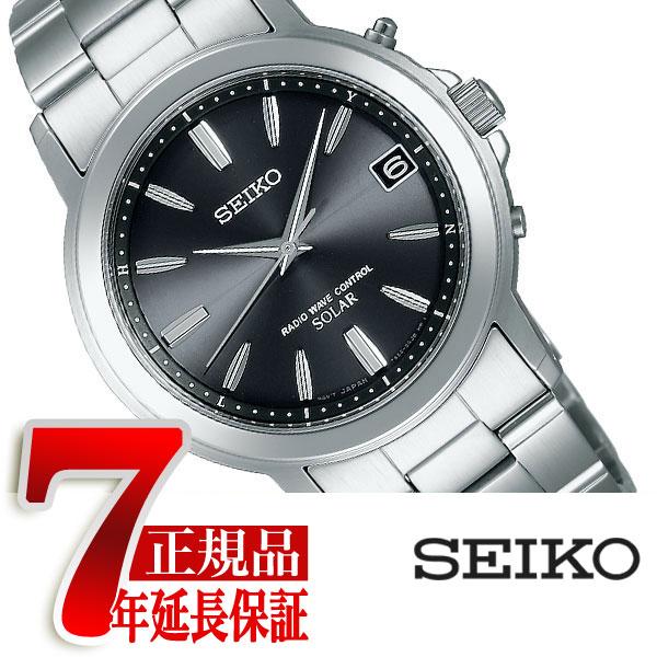 【正規品】セイコー スピリット SEIKO SPIRIT 電波 ソーラー 電波時計 腕時計 メンズ ペアウォッチ ブラック SBTM169