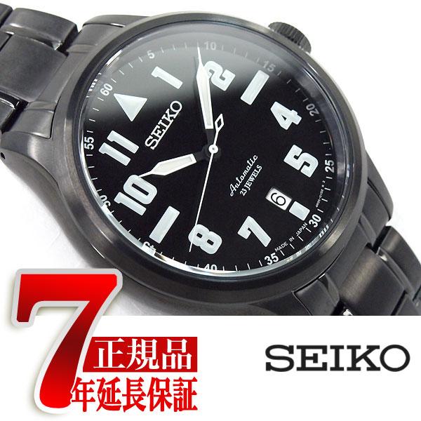 【SEIKO SPIRIT SMART】セイコー スピリットスマート nano・universe ナノ・ユニバース コラボ 限定モデル 自動巻き メカニカル 腕時計 メンズ ブラック SCVE035