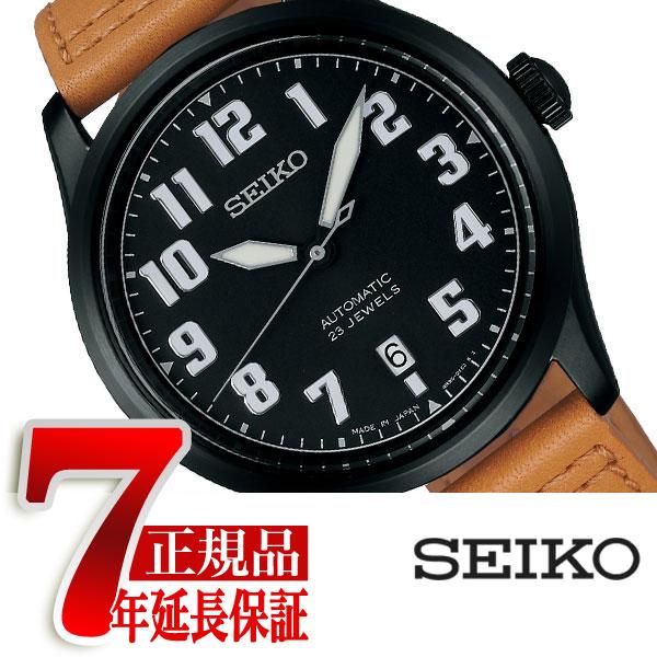【SEIKO SPIRIT SMART】セイコー スピリットスマート ナノ・ユニバース nano・universe コラボ 限定モデル 自動巻き メカニカル メンズ 腕時計 ブラック SCVE047