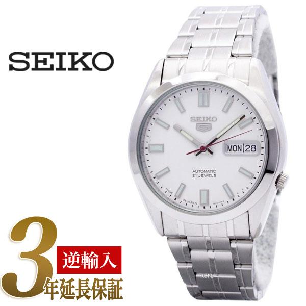 セイコー セイコー5 SEIKO5 セイコーファイブ 日本製 メンズ 腕時計 SNKE79J 逆輸入セイコー 自動巻き メカニカル 機械式 ホワイト メタルベルト SNKE79J1 SNKE79JC 3年保証 メンズ 腕時計 男性用 seiko5 日本未発売 ビジネス