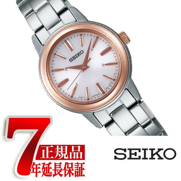 【SEIKO SPIRIT】セイコー スピリット 電波 ソーラー 電波時計 腕時計 レディース ペアウォッチ ホワイト SSDY018