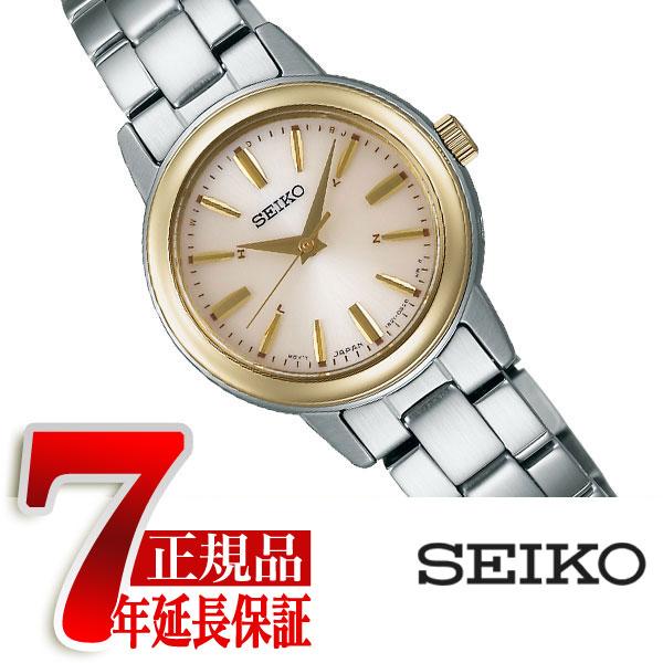 【正規品】セイコー スピリット SEIKO SPIRIT 電波 ソーラー 電波時計 腕時計 レディース ペアウォッチ ゴールド SSDY020