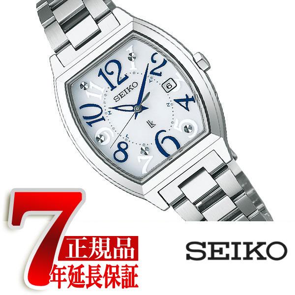 【正規品】セイコー ルキア SEIKO LUKIA 電波 ソーラー 電波時計 トノー型 レディース 腕時計 シルバー SSVW091