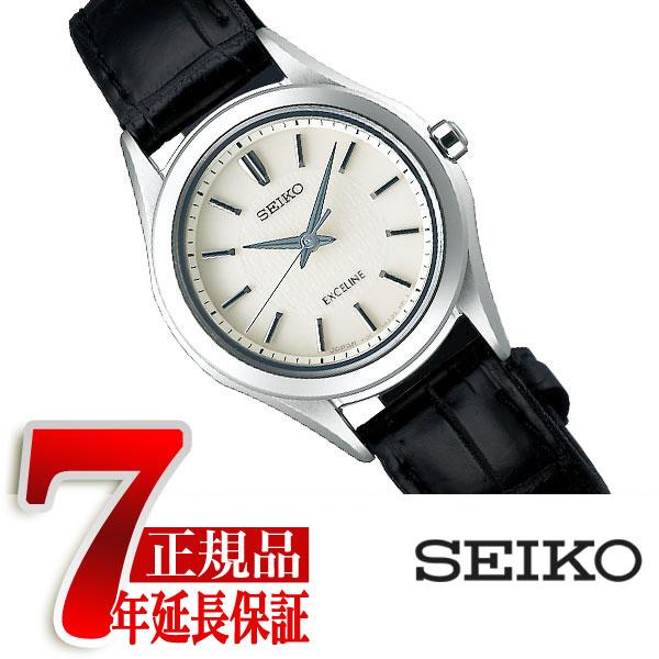 【正規品】セイコー ドルチェ&エクセリーヌ SEIKO DOLCE&EXCELINE 薄型 ソーラー ペアウォッチ レディース 腕時計 チタン アイボリー SWCP009