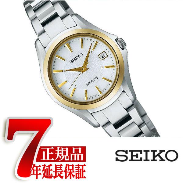 【SEIKO DOLCE&EXCELINE】セイコー ドルチェ&エクセリーヌ 電波 ソーラー 電波時計 腕時計 レディース ペウォッチ SWCW098
