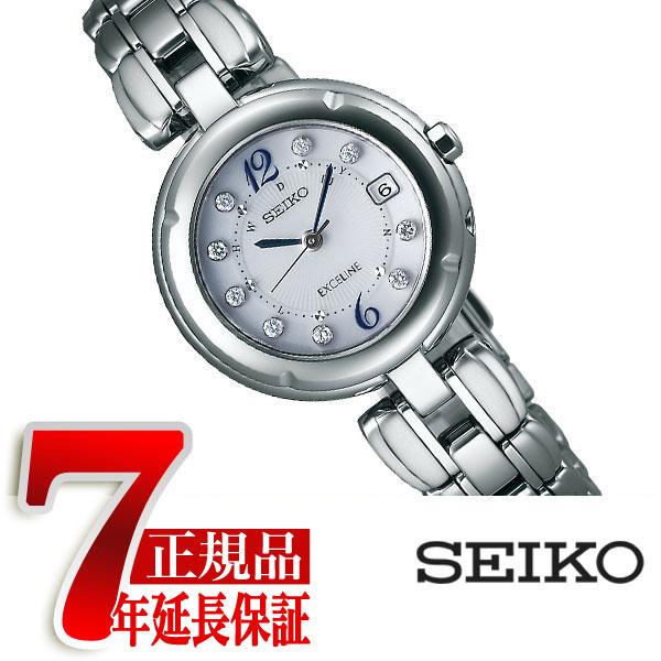 【SEIKO DOLCE&EXCELINE】 セイコー ドルチェ&エクセリーヌ セイコー エクセリーヌ SEIKO EXCELINE 電波 ソーラー 電波時計 腕時計 レディース シルバー SWCW121