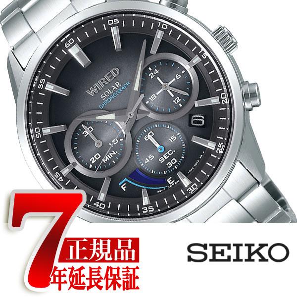 【正規品】セイコー ワイアード SEIKO WIRED TOKYO SORA パワーリザーブ機能付き ソーラー クロノグラフ メンズ 腕時計 AGAD095