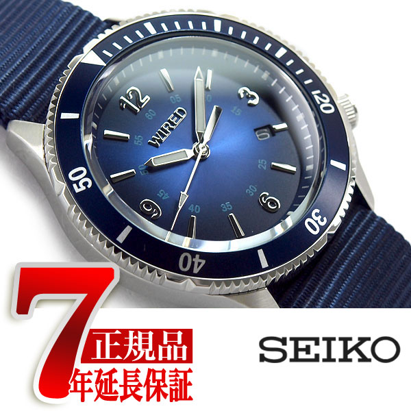 【正規品】セイコー ワイアード SEIKO WIRED ニュースタンダードモデル NEW STANDARD MODEL クオーツ メンズ 腕時計 4時位置リューズ ネイビー AGAJ404