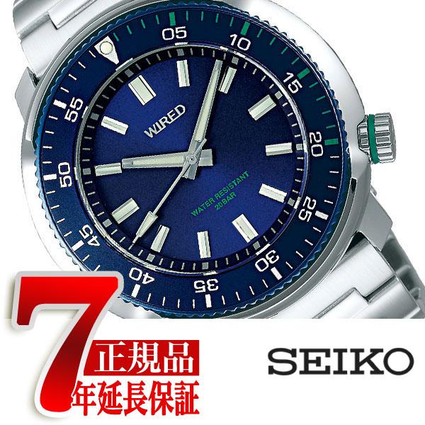 【SEIKO WIRED】セイコー ワイアード クオーツ 腕時計 メンズ ソリディティ SOLIDITY ブルー AGAJ405