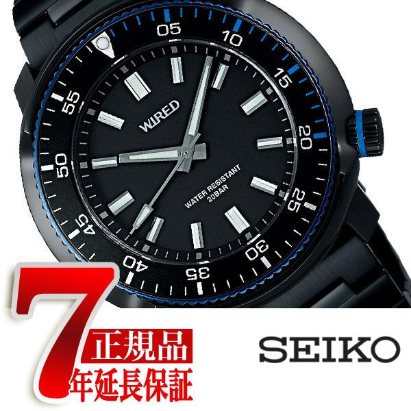 【正規品】セイコー ワイアード SEIKO WIRED クオーツ 腕時計 メンズ ソリディティ SOLIDITY ブラック AGAJ406