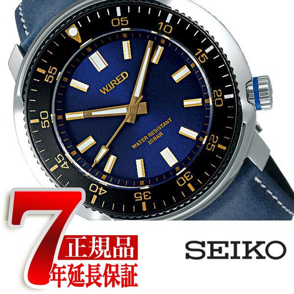 【正規品】セイコー ワイアード SEIKO WIRED クオーツ 腕時計 メンズ ソリディティ SOLIDITY ブルー AGAJ407