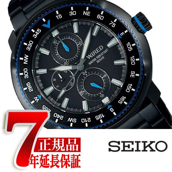 【正規品】セイコー ワイアード SEIKO WIRED クオーツ 腕時計 メンズ ソリディティ SOLIDITY ブラック AGAT417