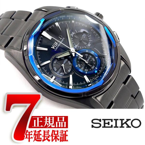 【SEIKO WIRED】セイコー ワイアード REFLECTION リフレクション 腕時計 メンズ クロノグラフ IPブラック ステンレスベルト AGAV102【あす楽】