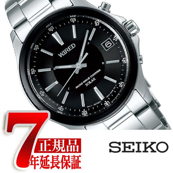 【正規品】セイコー ワイアード SEIKO WIRED 電波 ソーラー 電波時計 腕時計 メンズ AGAY012