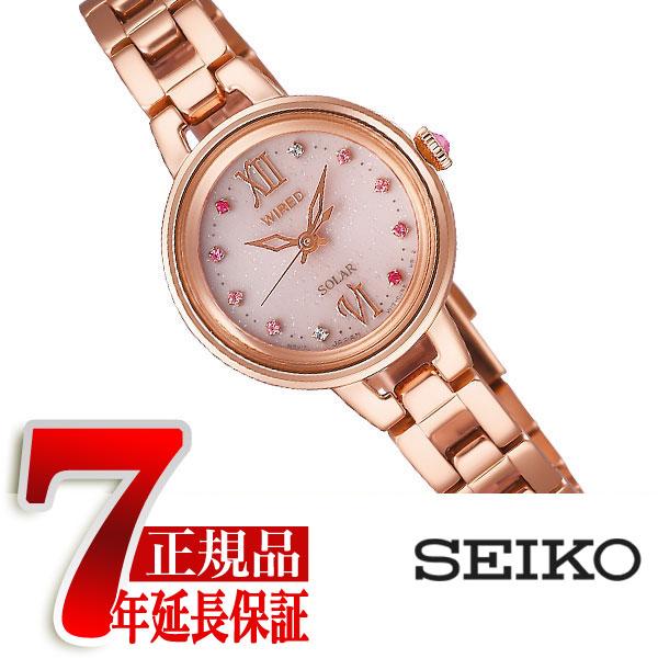 【正規品】セイコー ワイアードエフ SEIKO WIRED f ソーラー 腕時計 レディース ペアスタイル ピンク AGED093