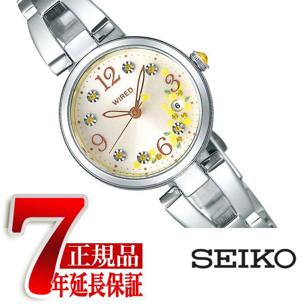 【SEIKO WIREDf】セイコー ワイアードエフ ミモザの日 限定モデル クオーツ 腕時計 レディース シルバー ダイアル AGEK742