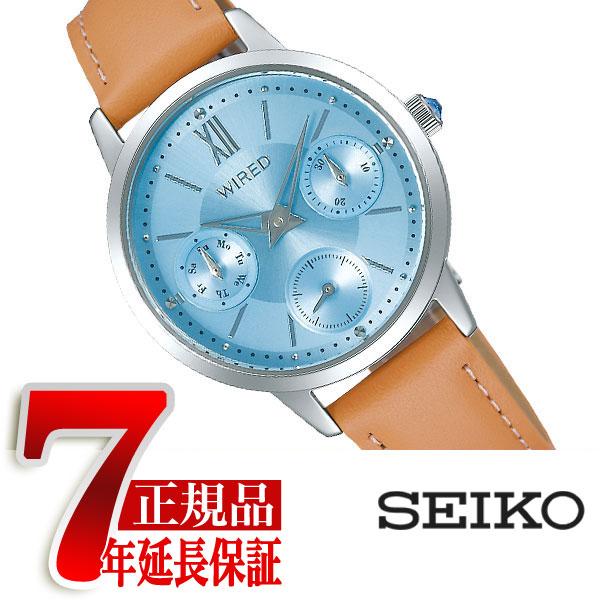 【SEIKO WIRED PAIR STYLE】セイコー ワイアード ペアスタイル クオーツ 腕時計 レディース ライトブルー AGET407