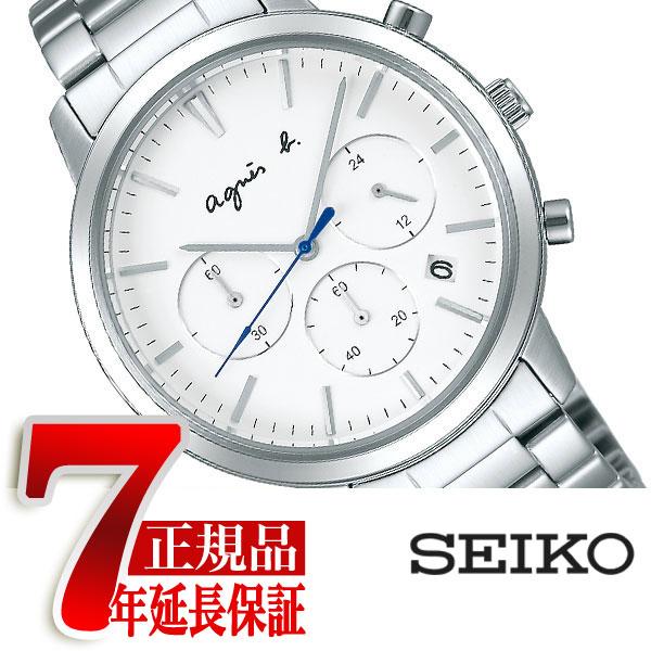 アニエスベー agnes b. サム SAM メンズ 腕時計 ペアモデル ホワイト ダイアル FCRT967