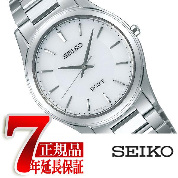 【正規品】セイコー ドルチェ&エクセリーヌ SEIKO DOLCE&EXCELINE セイコー ドルチェ SEIKO DOLCE ソーラー 腕時計 ペアウォッチ メンズ ホワイト SADL011
