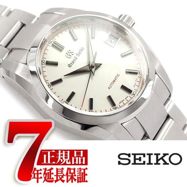 【おまけ付き】【GRAND SEIKO】 グランドセイコー メカニカル 手巻き付き メンズ 腕時計 ホワイトダイアル ステンレスベルト SBGR271