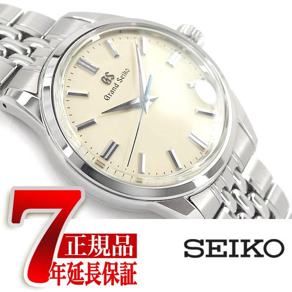 【おまけ付き】【正規品】グランドセイコー GRAND SEIKO メカニカル 手巻き付き メンズ 腕時計 ベージュダイアル ステンレスベルト SBGW235